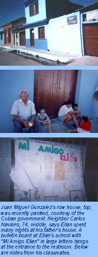 Images of Cardenas, where Elian has become a hero.