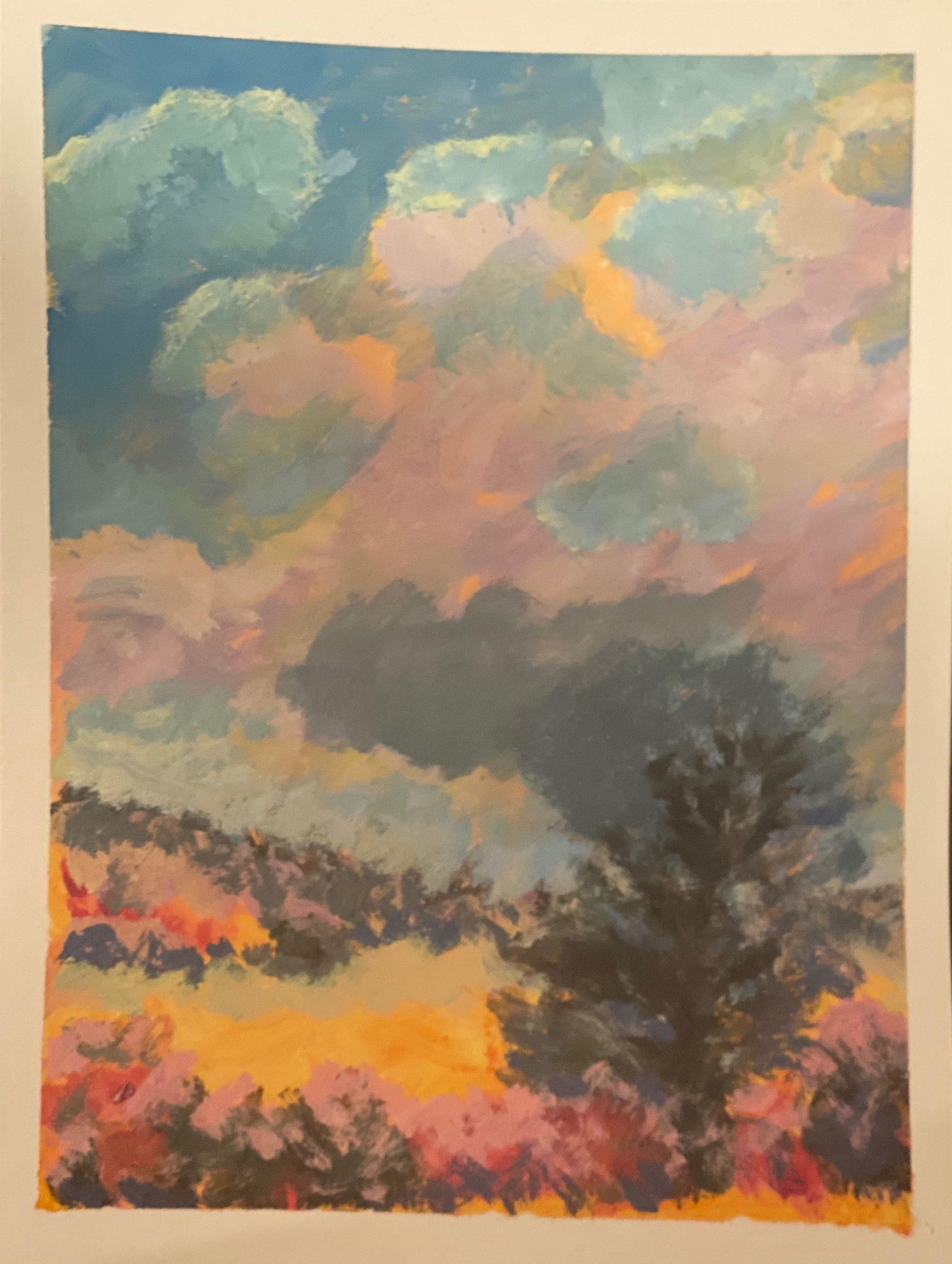 Maine sky in acrylic