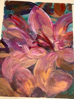 floral acrylic on paper